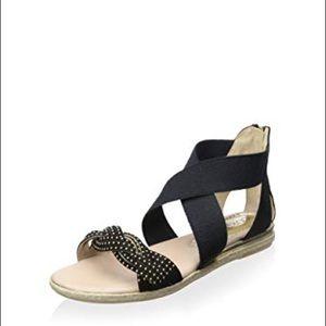 Cordani Ibiza Black Braided Sandal 39